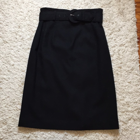 Radcliffe Petites Dresses & Skirts - Radcliffe Petites Black Wool Pencil Skirt w/ Belt